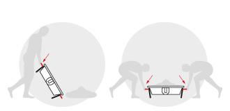 Transportsarg mit praktischenn Tragebügeln